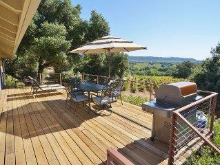 Stunning Custom Home w/ forever Dry Creek Valley Vineyard Views