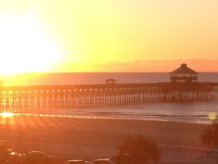 Folly Beach Ocean View Condo Pier Pointe Villas 301-B