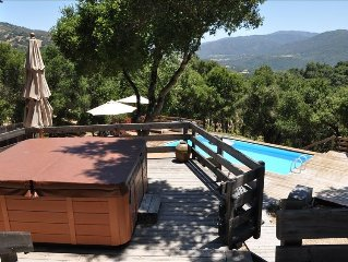 Private Carmel Valley Cottage on 20 Acres, Pool and Hot Tub