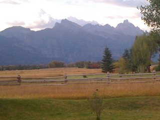 Stunning Views Of The Grand Teton Out Your Front Window