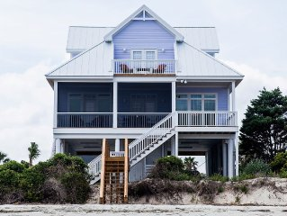 OCEANFRONT New Beautiful 4 Bedroom Home with Private Boardwalk to Beach