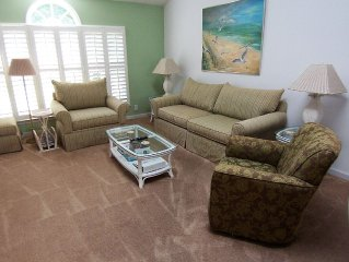 Sea Trail Resort--Beach 1 mile,3 onsite golf courses, roomy 2200sf