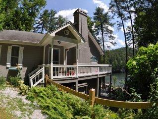 Charming House on Lake Seed in Rabun County