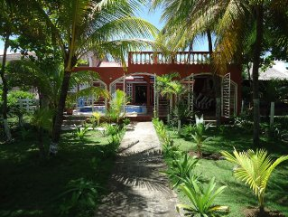 New Listing! Private Oceanfront Beach House Vacation Rental in Nicaragua