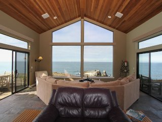 Spectacular Oceanfront Views From Every Room Of This Timber Cove Home