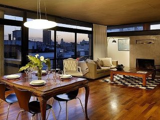 Exquisite Penthouse w/ Private Terrace, Stunning Views, Balcony, Parrilla & Pool