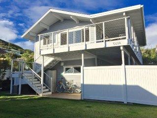 2 Bedroom / 1 Bath Upstairs Ohana Directly Across From Kailua Beach