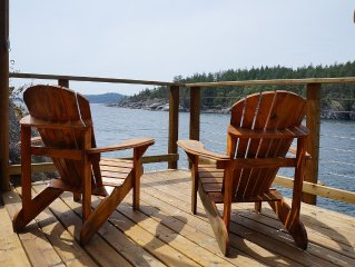 Oceanfront Cottage With Private Dock And Large Decks, Halfmoon Bay, BC
