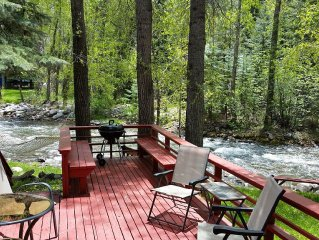 Log cabin on the Florida River, 15 minutes from Durango