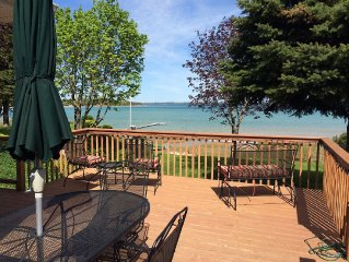 Waterfront, Family-friendly, Spacious Home Near Traverse City - Amazing View!