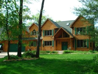 Beautiful 8000 Sq. Ft. Log Home With 700 Feet Of Private Frontage On Kusel Lake