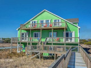 Beach Front North Topsail - Ideal Family Vacation Home