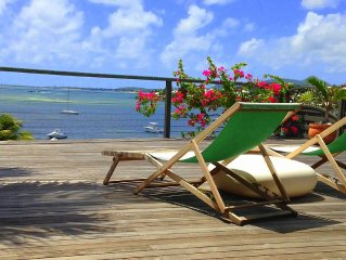 Stunning and peaceful views of Pinel Island, Orient Bay and St Barth
