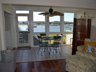 ON RIVER  Spectacular View! 1st Floor Renovated Private End Unit- Ocean to Pool!