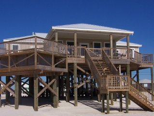 Gulf Beach Front Home*** Private Heated Pool, 5 Bedroom
