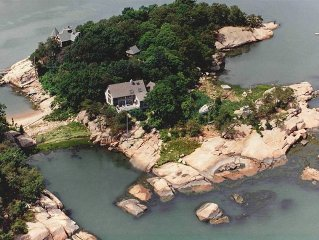 THIMBLE ISLAND HOME on a PRIVATE ISLAND