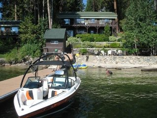 Private Lakefront Mountain Cabin, Sandy Beach, Hot Tub-McCall