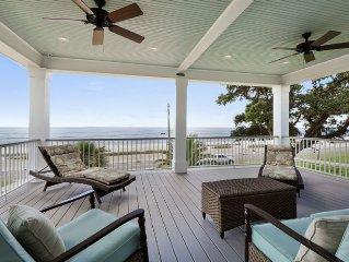New Custom Beachfront Home Sitting On The Beach Of The Bay Of St Louis Sleeps 10