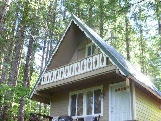 Peaceful Quaint Ski Cabin, Timberline Village Near White Pass