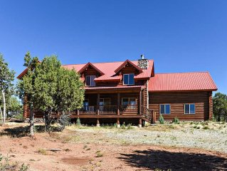 When coming to Zion why not stay in a cozy authentic 5 bedroom cabin.