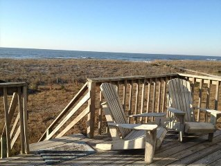 Ocean Front Cottage Charm Relaxing Porch, Pet Friendly, Wifi