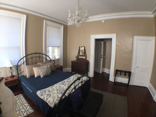Walk downtown from this beautiful 1850 Antebellum home