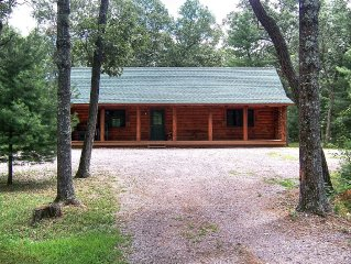 Log Cabin On 6 Wooded Acres & Just Minutes to Downtown Wisconsin Dells!
