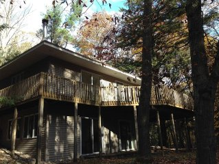 Perfect Vacation Rental On A Wooded Lot Between Lake Michigan And Portage Lake.