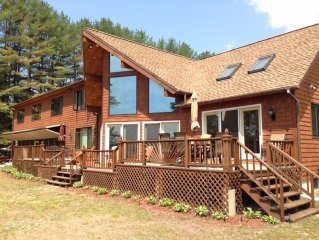 Long Lake! Bring the whole family! Large Home-Sleeps18, Sandy Beach, Dock Boat