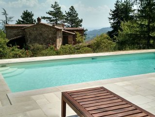 Newly Renovated 18th Century Hilltop Villa with 6 Baths, Pool, Wifi