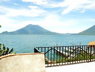 Lakeside Villa Lake Atitlan, Guatemala - Volcano View