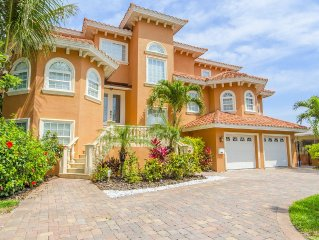 Luxury Waterfront Vacation Home on Boca Ciega Bay!