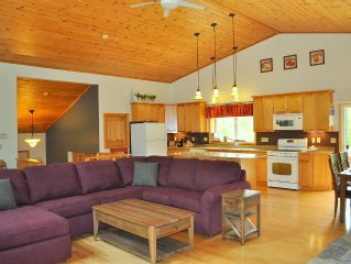 Mountain top family and dog friendly rental , luxuriously furnished .