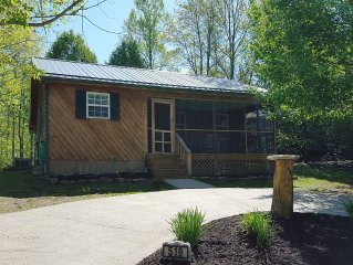 The best little cabin in the woods!  Hot tub too!  Book Today!