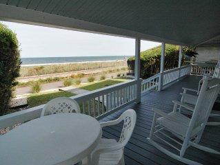*$ OCT- 2 WEEKS LEFT $* Huge Seaside Porch Near Pier, OCEANFRONT, STEPS TO BEACH