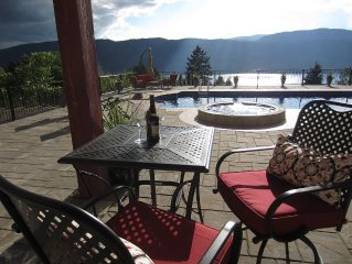 Beautiful New 2 Bedroom Suite, Swimming Pool & Hot Tub With Okanagan Lake Views