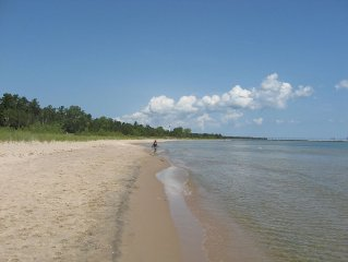 3.5 acres, 190 ft of Lake Michigan Awesome SAND Beach