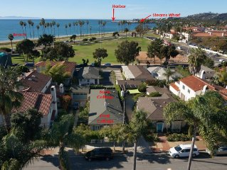 Steps to the Sand:with beach views and a private fenced yard; Great for families
