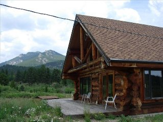 Great 1994 Log Cabin on 4 acres: Pond, Views, Creek, Wildlife, Nat'l Park