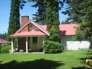 Love Shack!   Farm House + Log Cabin on Five Acres & Orchard!