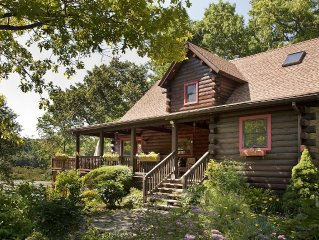 Waterfront Log Home On 5 Private Acres One Mile From Omega