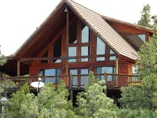 Chalet in the pines golf course view ponderosa studded mountains on 2.5 acres.