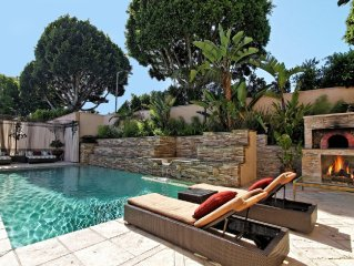 Family Vacation Dream: Privately Gated Maison / Tennis Court  A Walk to Rodeo Dr