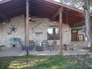Texas working cattle ranch, 133 secluded acres, 3 beds, 2+ bath - sleeps 12