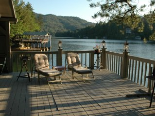 Lake house right on the water