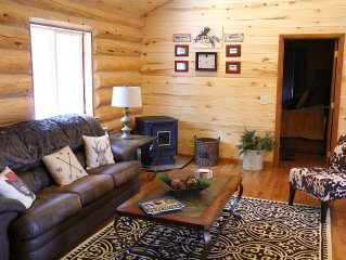 Luxury mountain lodging near Breckenridge-custom log home on 2 acres with view