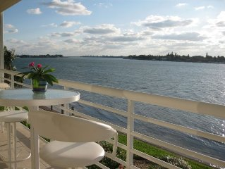 CLUB BAHIA LUXURY WATERFRONT Condo View Sunsets, Dolphins, Manatee from balcony!
