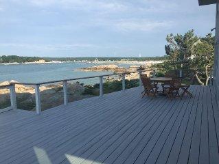 waterfront Wingaersheek Beach 270 degree of pristine water views from large deck