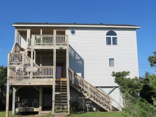 Frisco Beach House! 4 lots back, easy walk to ocean, Great ocean view!