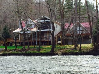 Incredible Custom Built River Front Cabin Steps away from the River.